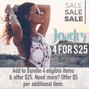 4 for $25 jewelry deal